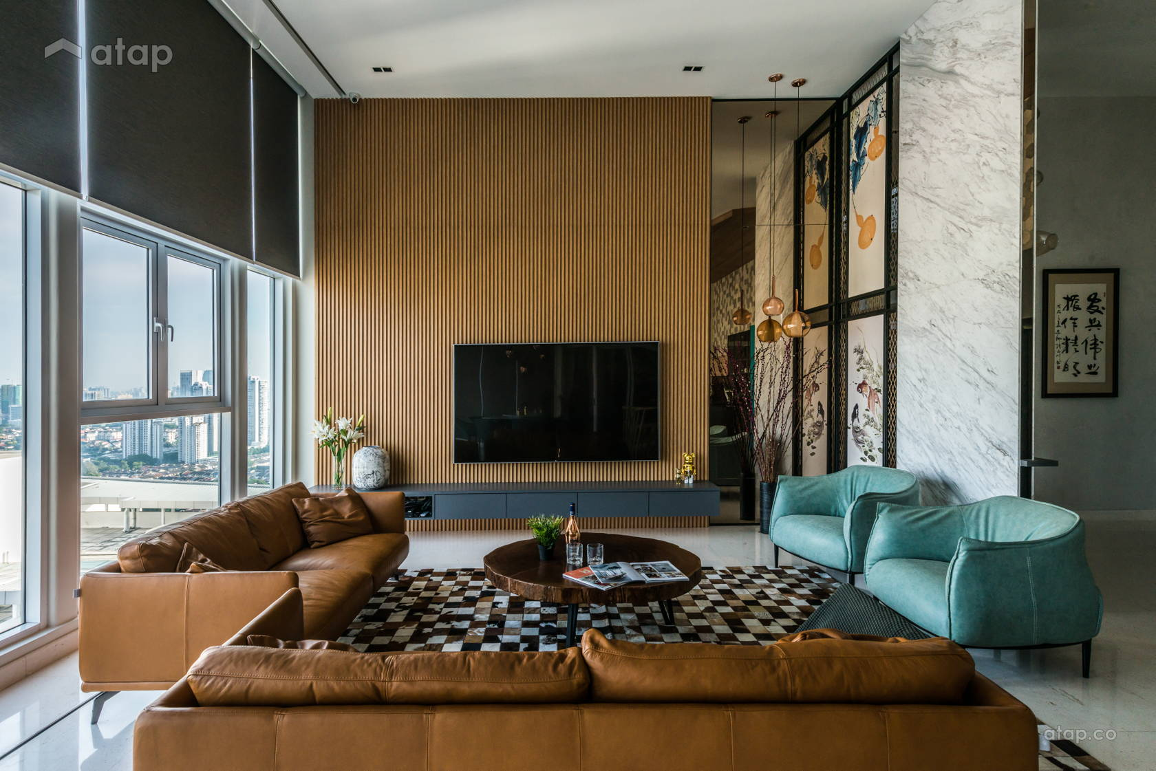Contemporary Modern Living Room @ Opulent 30
