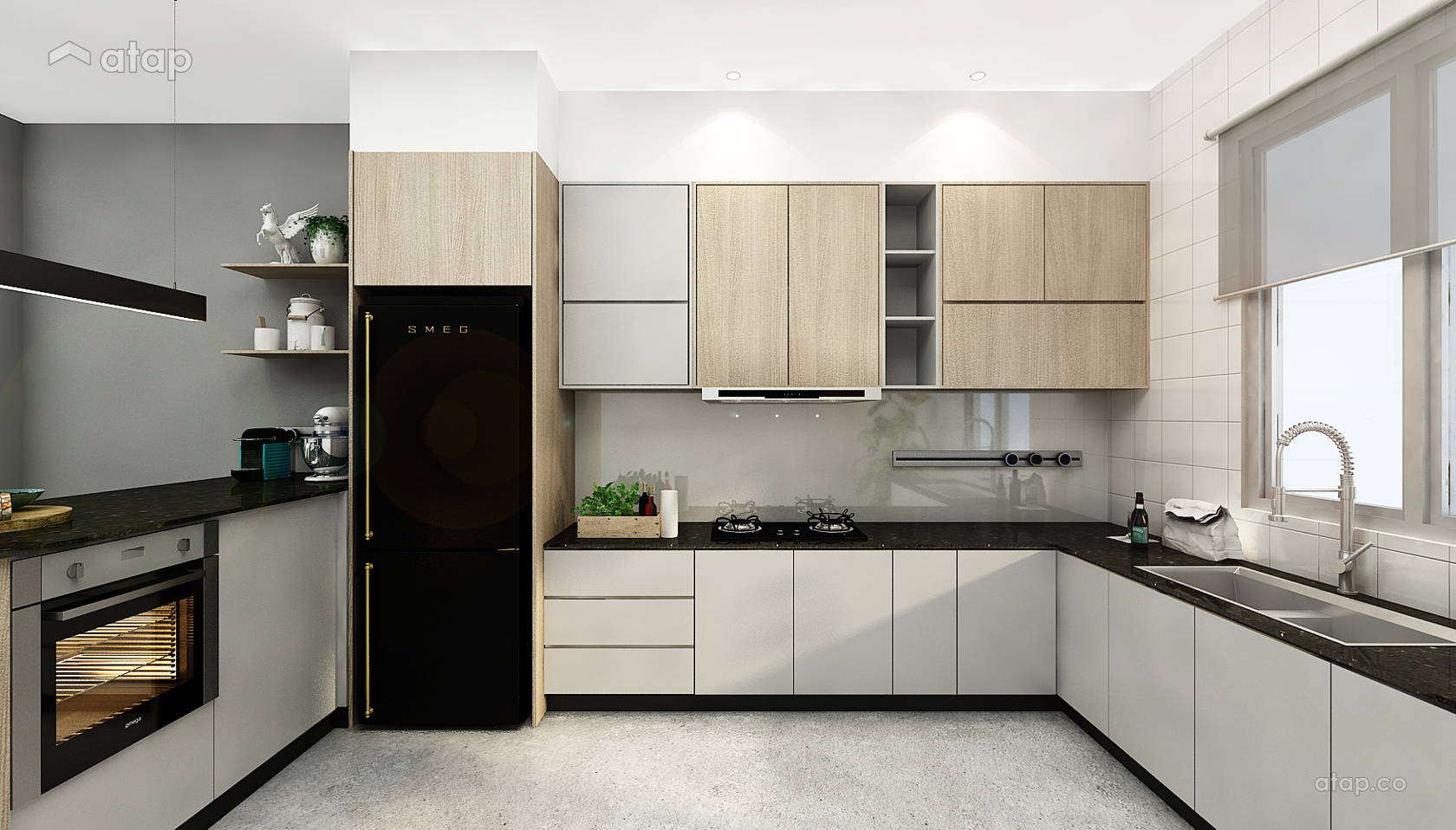 Minimalistic Modern Kitchen Terrace Design Ideas Photos Malaysia Atap Co