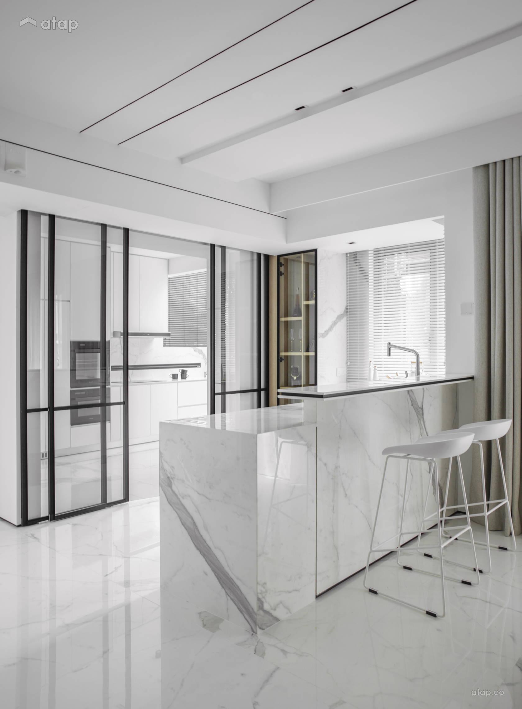 Contemporary Modern Kitchen @ THE IMPACT OF WHITE - Double Storey, Desa parkcity