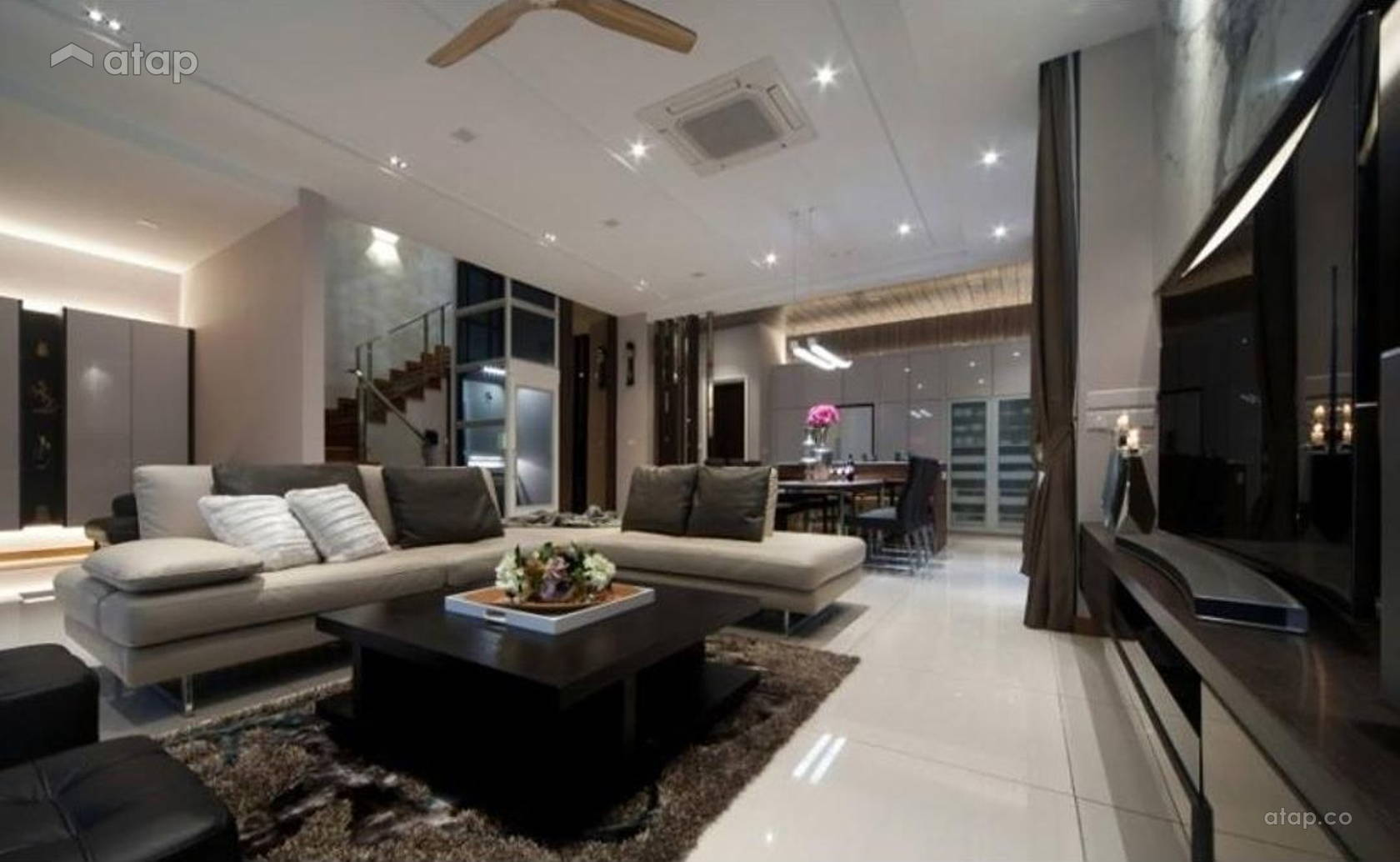 semi-d living room design  Semi-D interior design renovation ideas, photos and price in ...