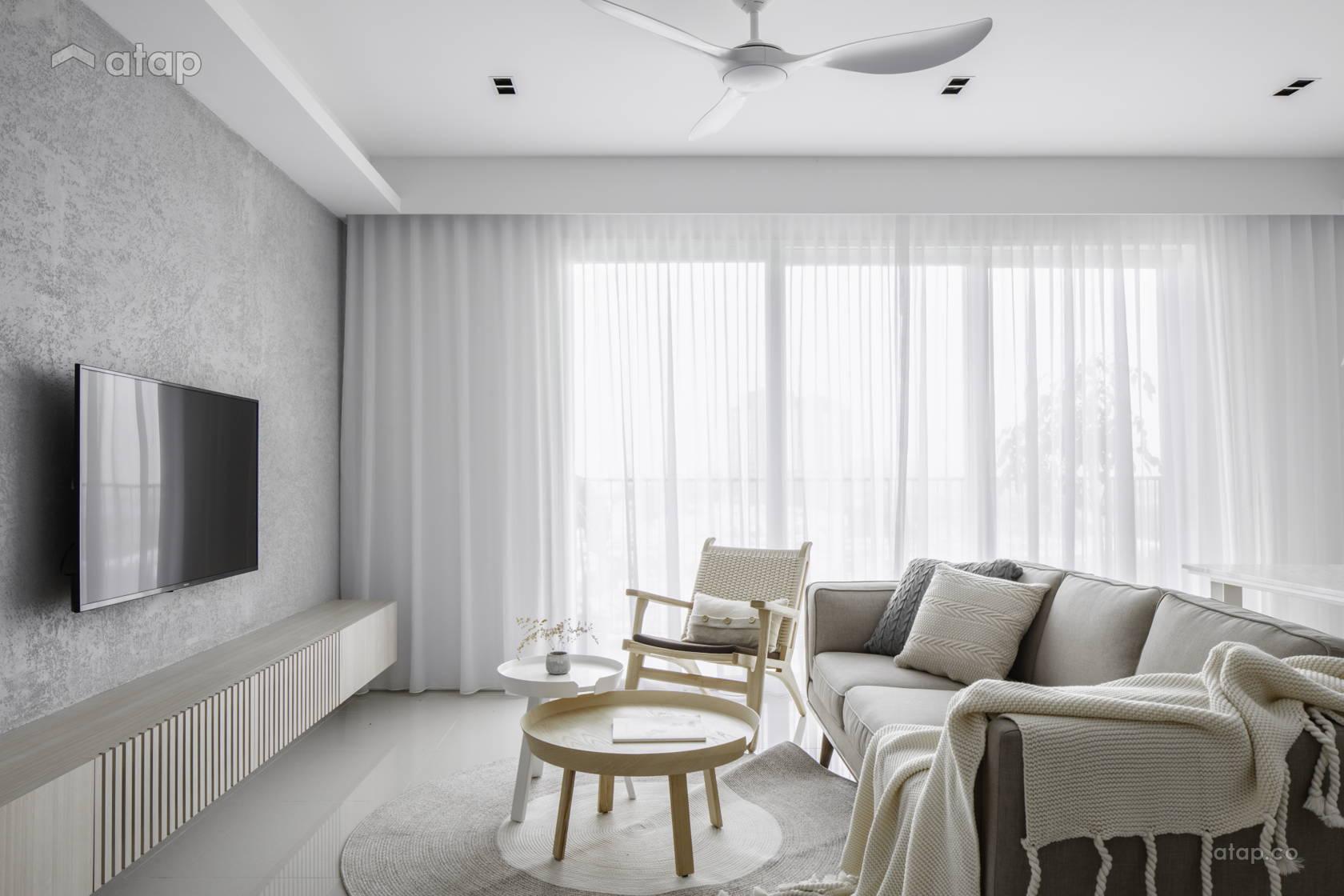 Minimalistic Zen Living Room @ Hatsuhinode - Condominium