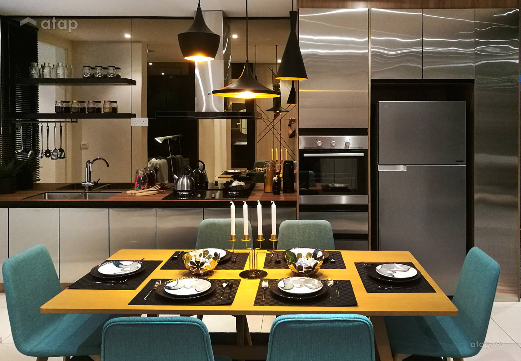 Contemporary Modern Dining Room Kitchen @ Sunway Gandaria (Show Unit - Type A)