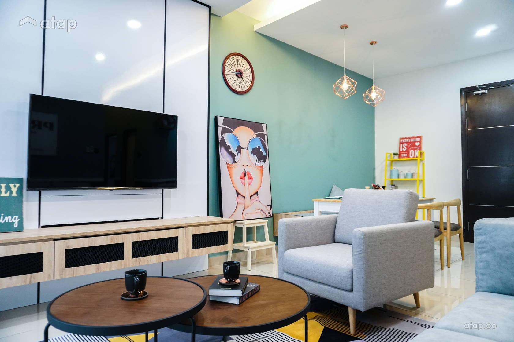 Contemporary Scandinavian Living Room @ D'Summit Residences | Kempas Utama | Johor Bahru | Malaysia