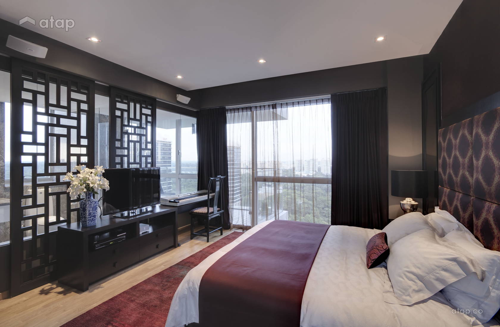 Asian Contemporary Bedroom @ Sky@Eleven