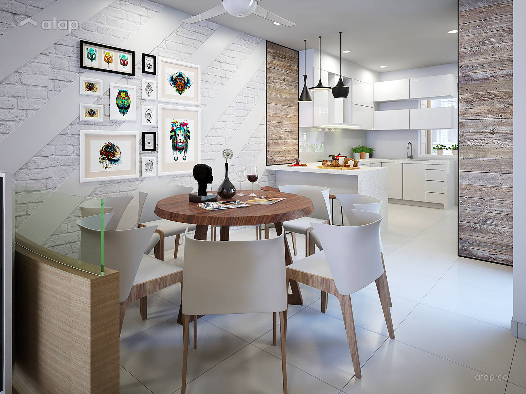 Contemporary Modern Dining Room Kitchen Terrace Design Ideas Photos Malaysia Atap Co