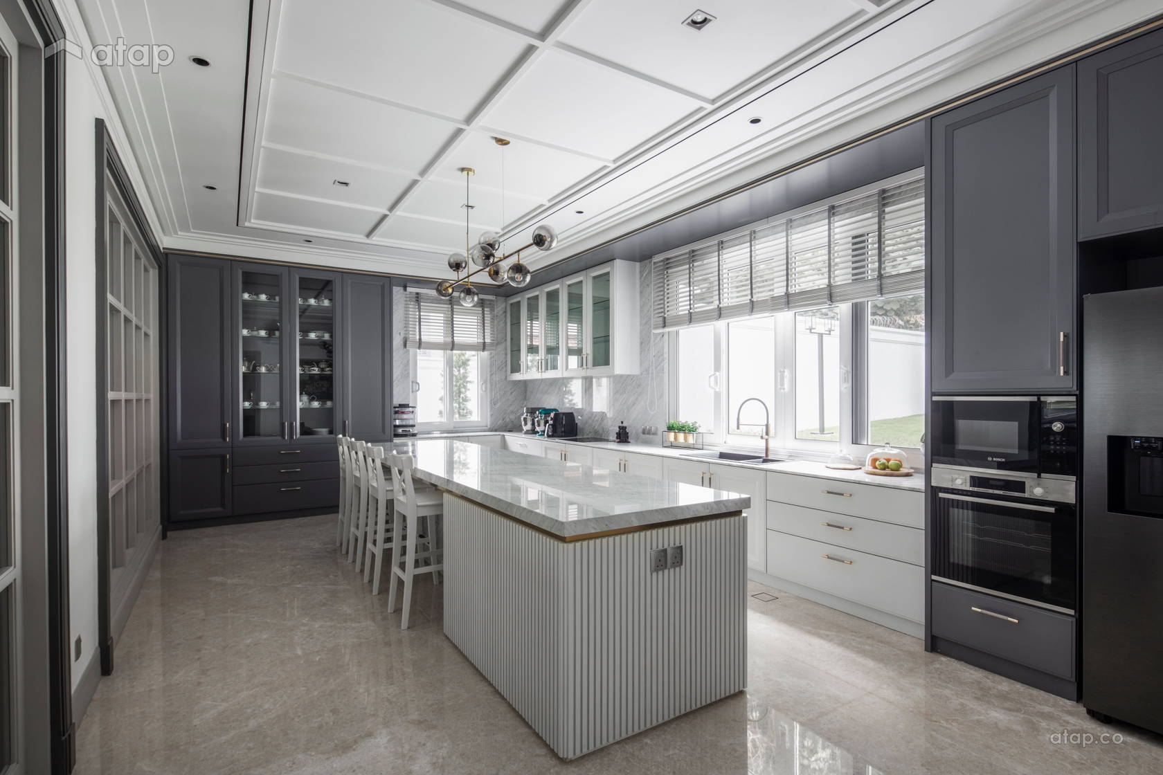 Classic Modern Kitchen Bungalow Design Ideas Photos Malaysia Atap Co