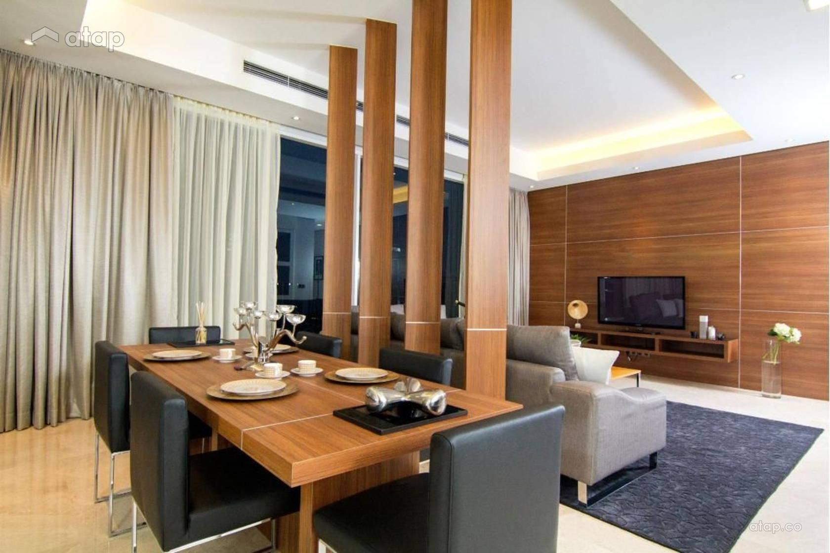 Minimalistic Living Room Dining Room @ ViPod Residences