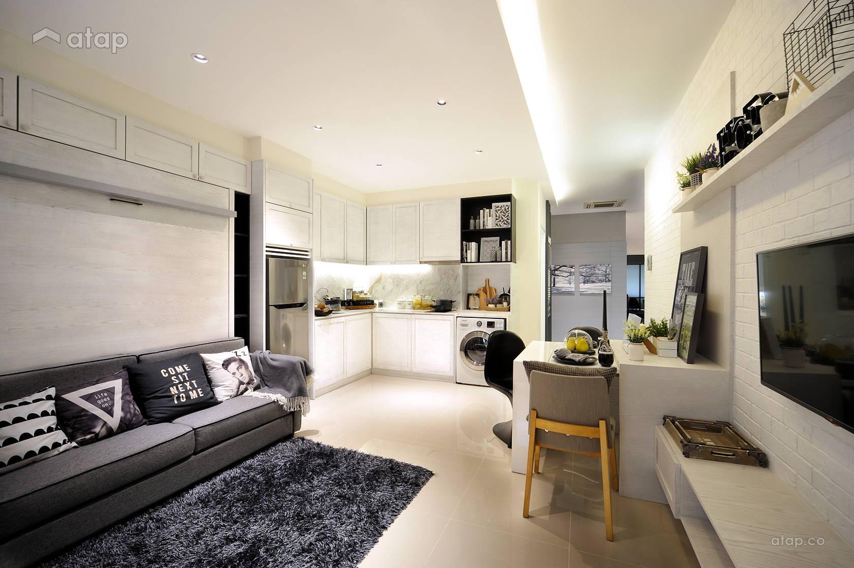 Minimalistic Modern Living Room @ HighPark Studio A3