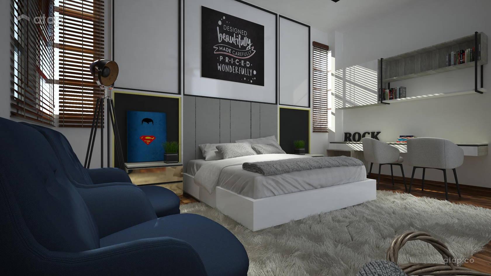 Contemporary Modern Bedroom @ Bukit Tropika @ Desa Cemerlang | Johor Bahru | Malaysia