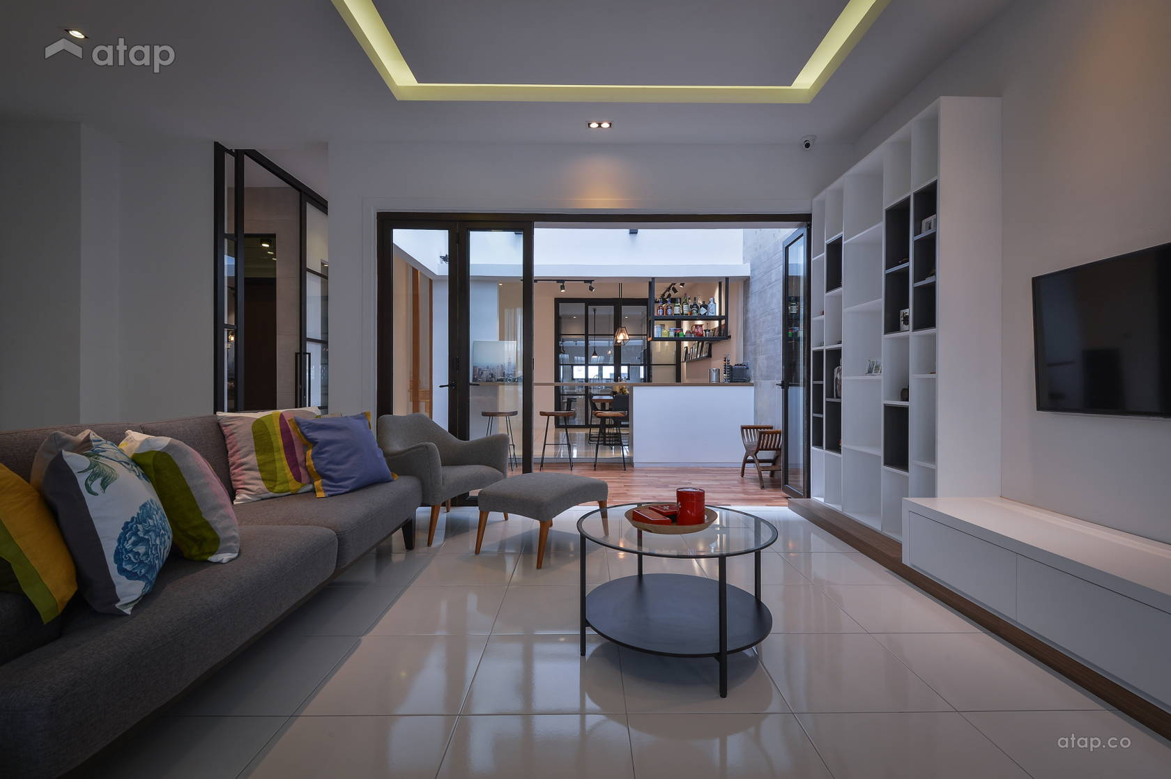 Contemporary Modern Living Room @ Denai Alam