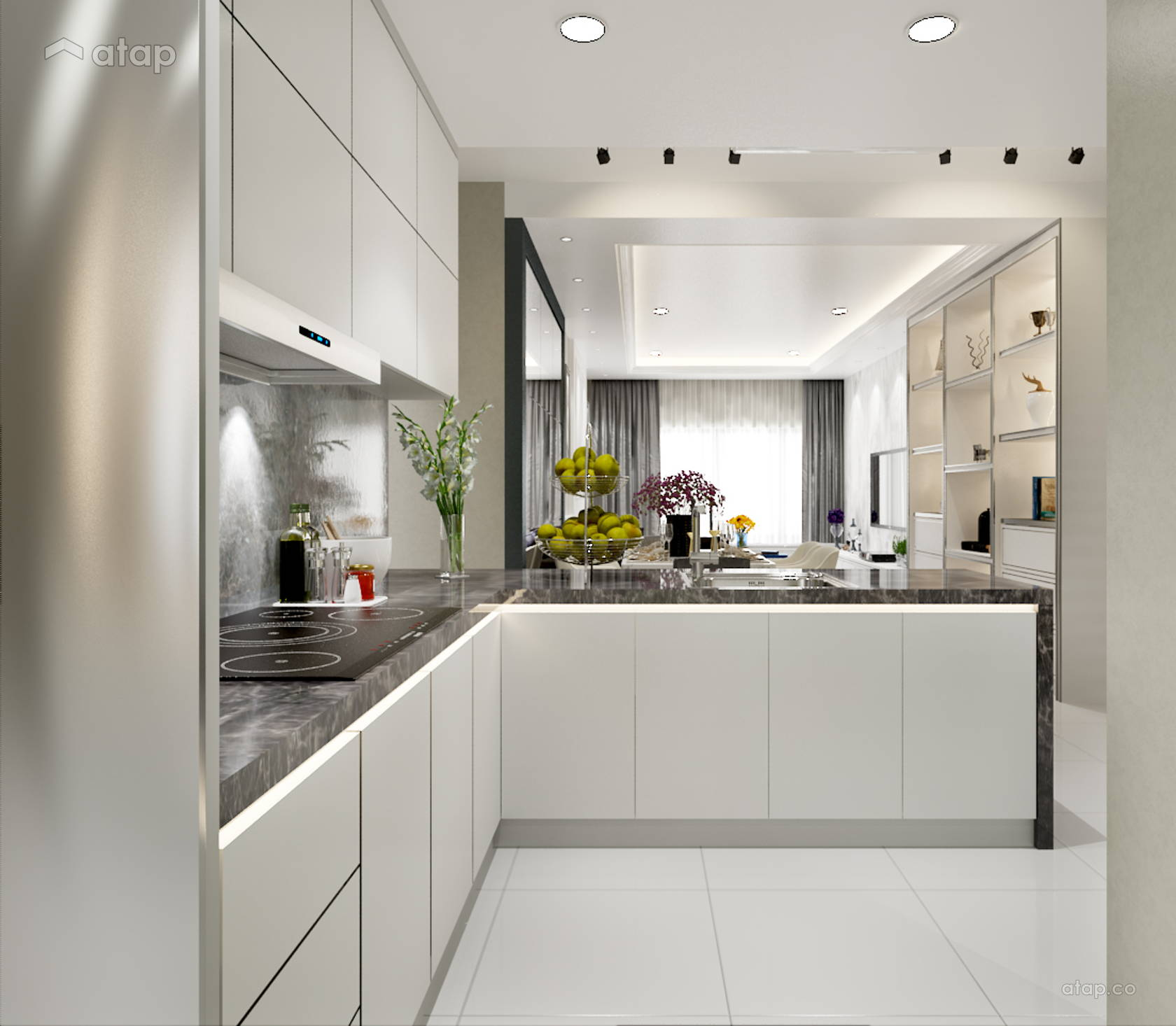Minimalistic Modern Kitchen Apartment Design Ideas
