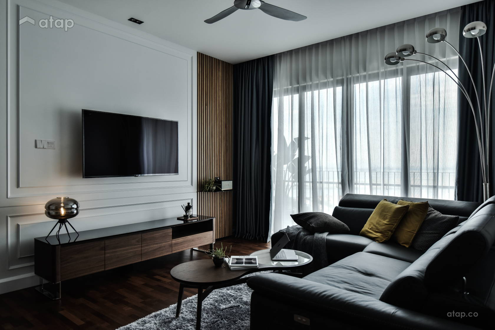 Contemporary Modern Living Room @ PETITE GLAM // TAMARIND