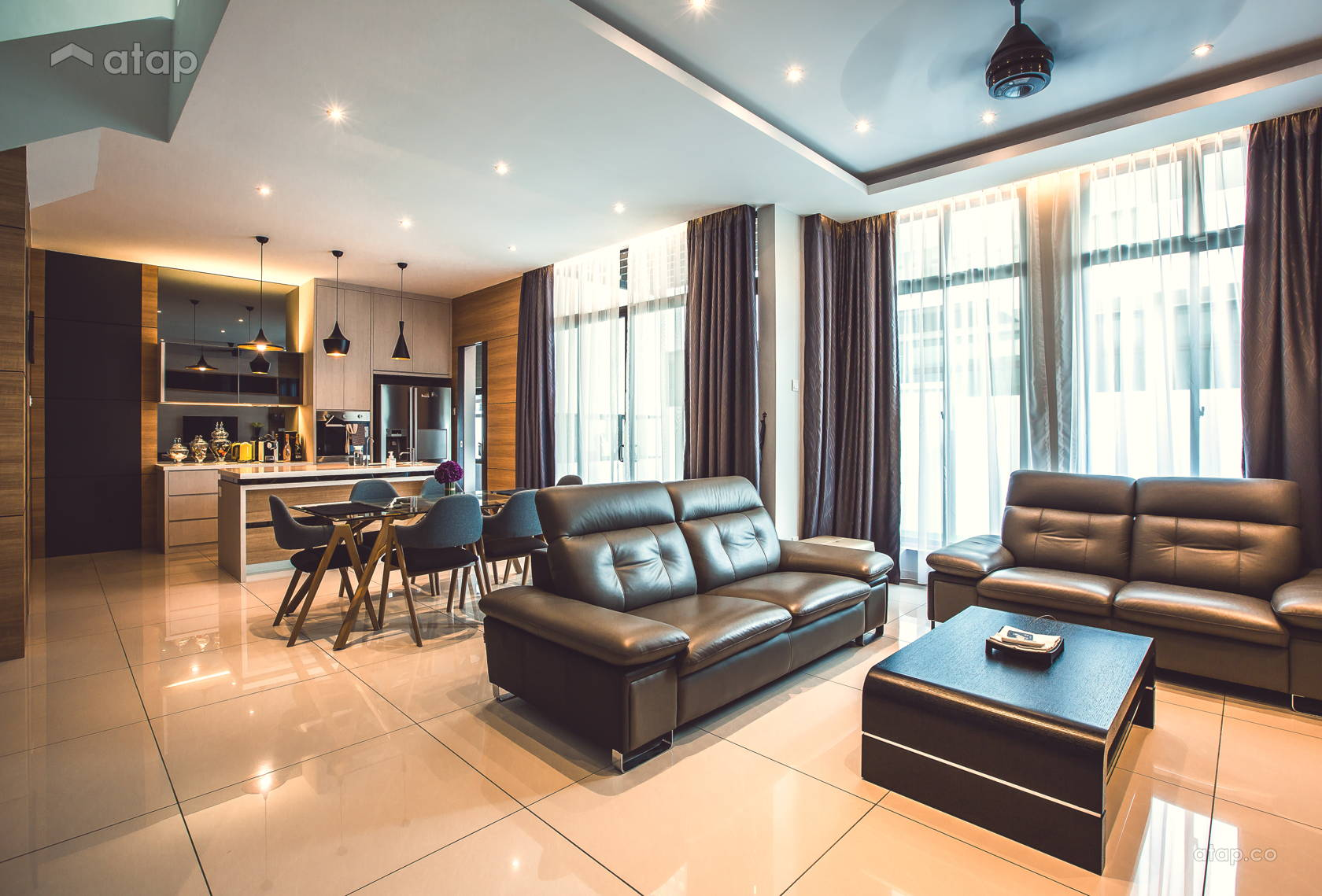 Contemporary Modern Kitchen Living Room @ Adda Height, Johor Bahru (1)