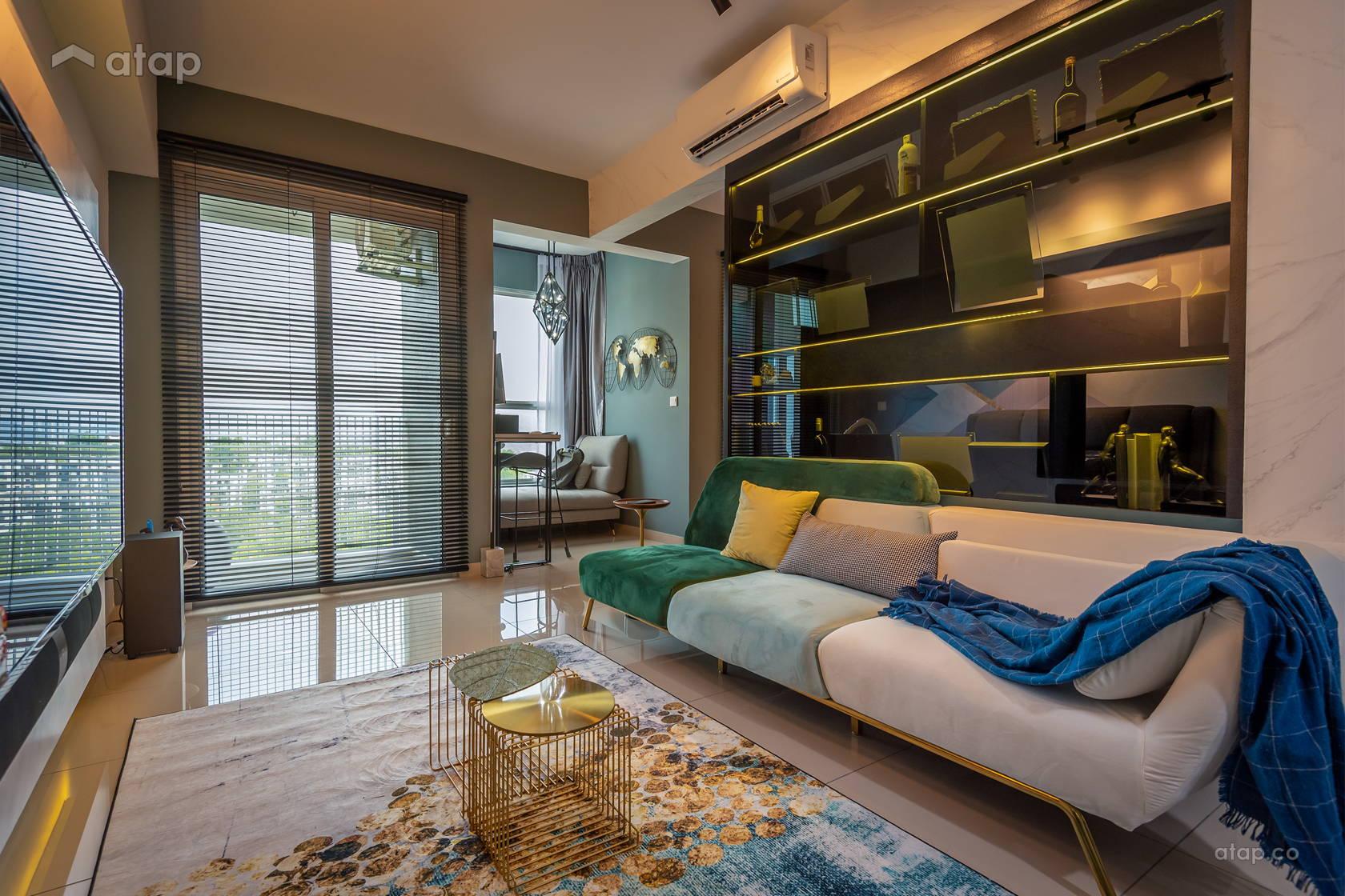 Contemporary Modern Living Room Study Room @ Mystic Green @ Nadayu 63, Taman Melawati, Ampang