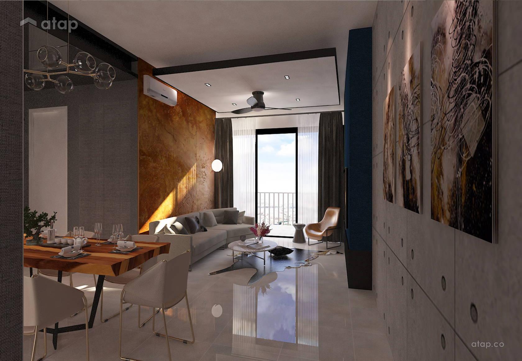 Gallery In The Rainz At Bukit Jalil Contemporary Industrial Dining Room Living Condominium Design Ideas Photos Malaysia Atap Co