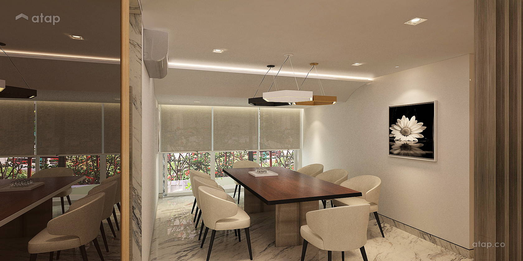 Minimalistic Modern Dining Room @ Mr Jon's Bangsar Puteri Condominium