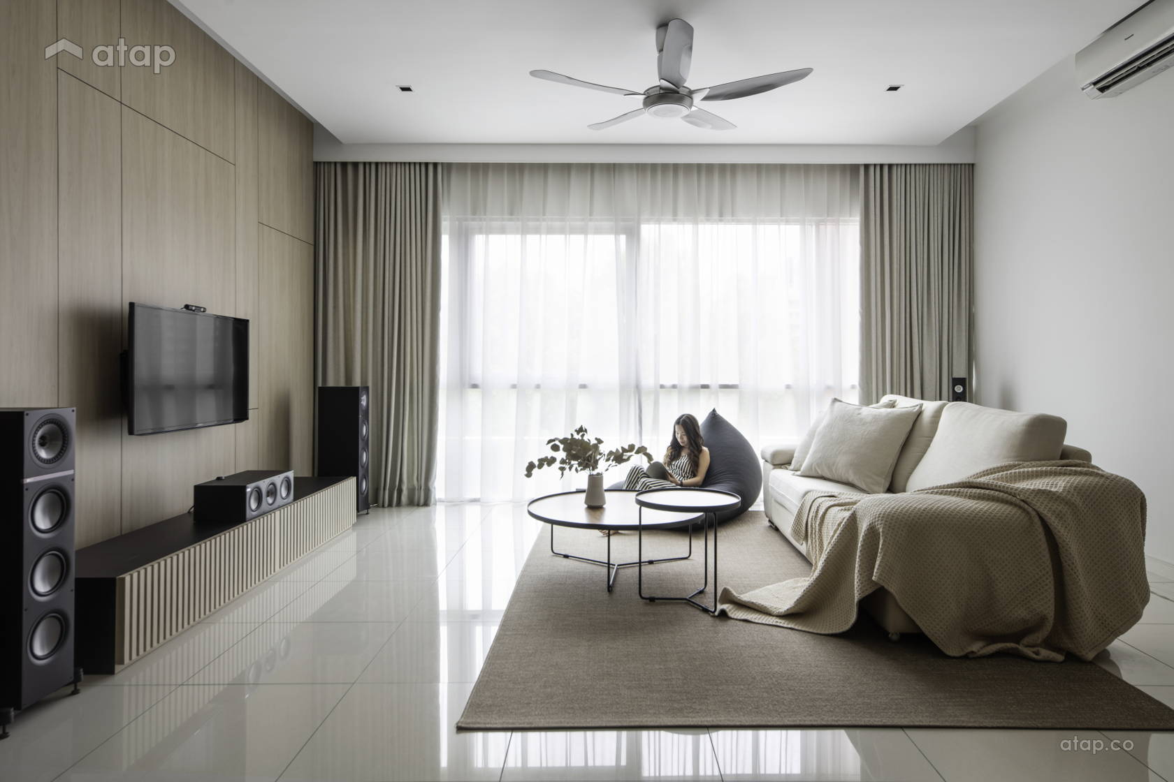 Modern Zen Living Room Condominium Design Ideas Photos Malaysia Atap Co