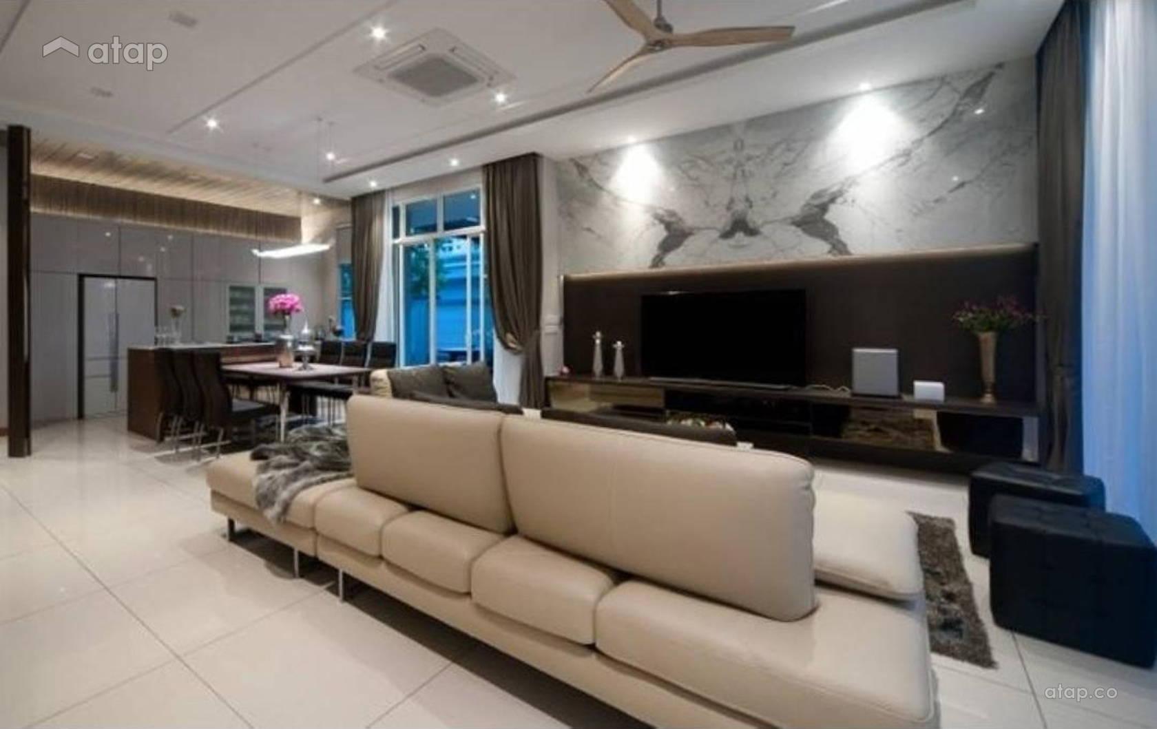 Living Room Design Ideas Malaysia contemporary modern living room semi-detached design ideas