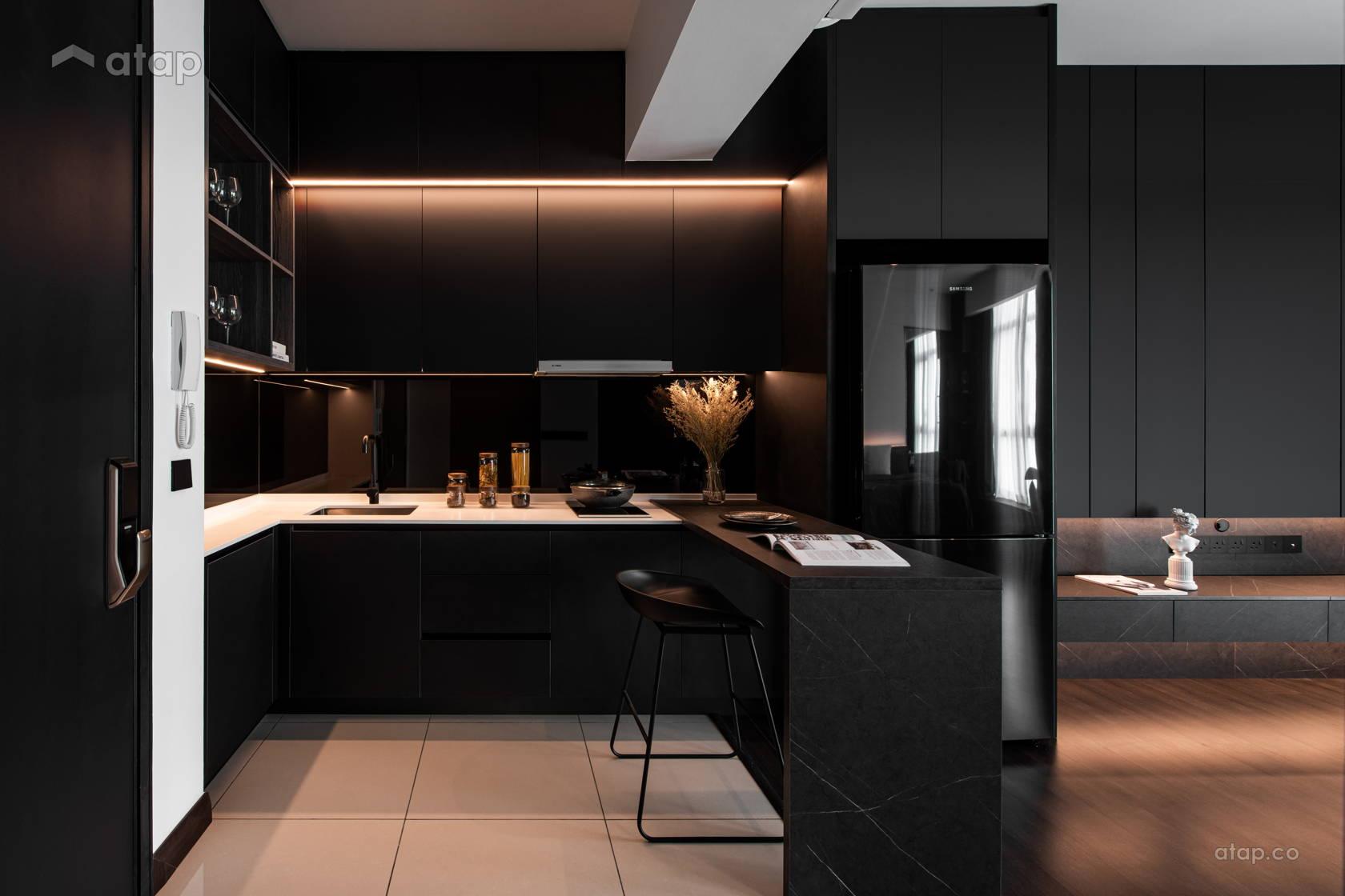 Contemporary Modern Kitchen Living Room @ BLVD Suites, Kuala Lumpur