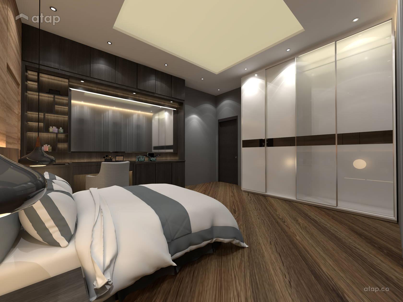 Asian Contemporary Bedroom Apartment Design Ideas Photos