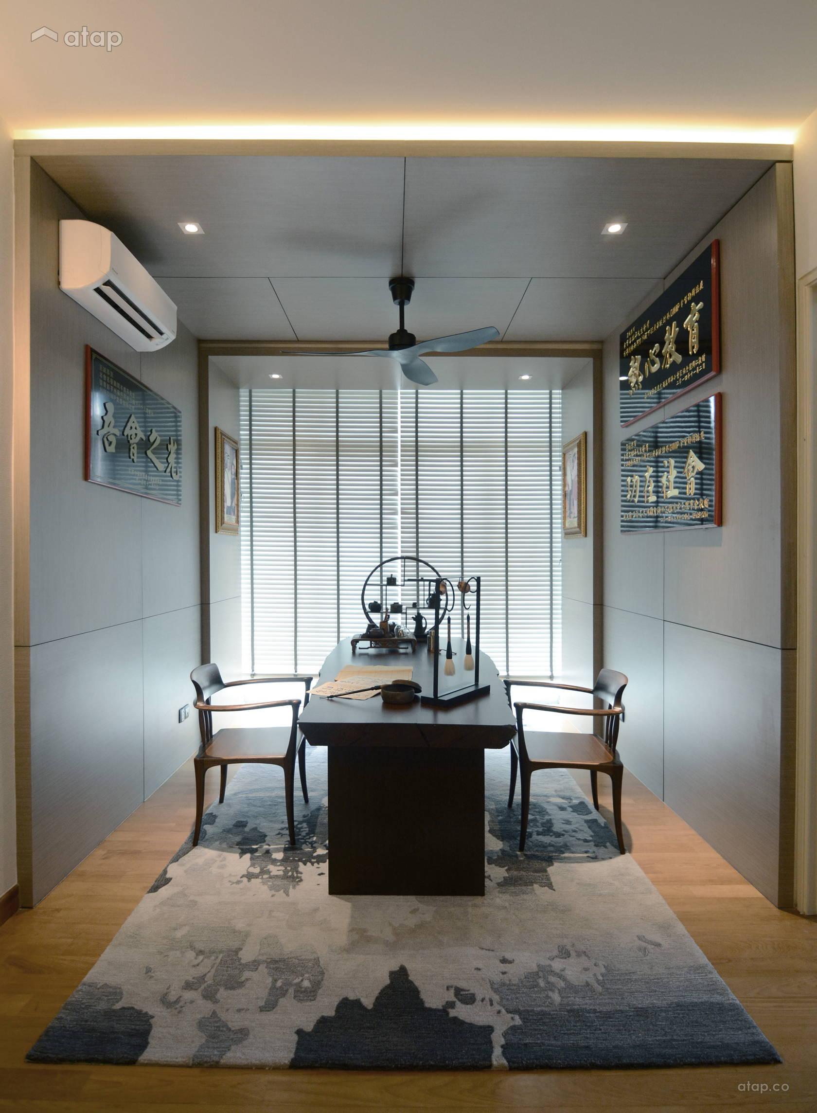 Contemporary Study Room @ Villa Seni Residence