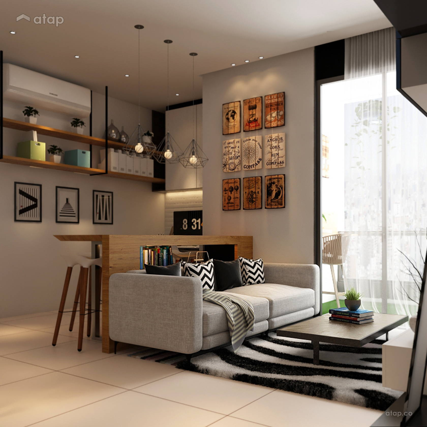 Scandinavian Living Room @ Arcoris Mont Kiara