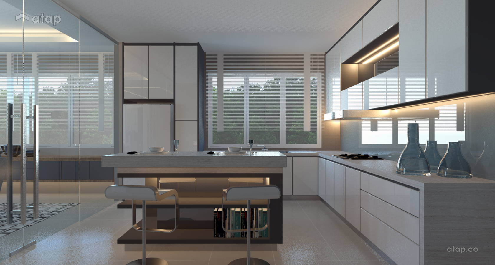 Contemporary Modern Kitchen Semi Detached Design Ideas
