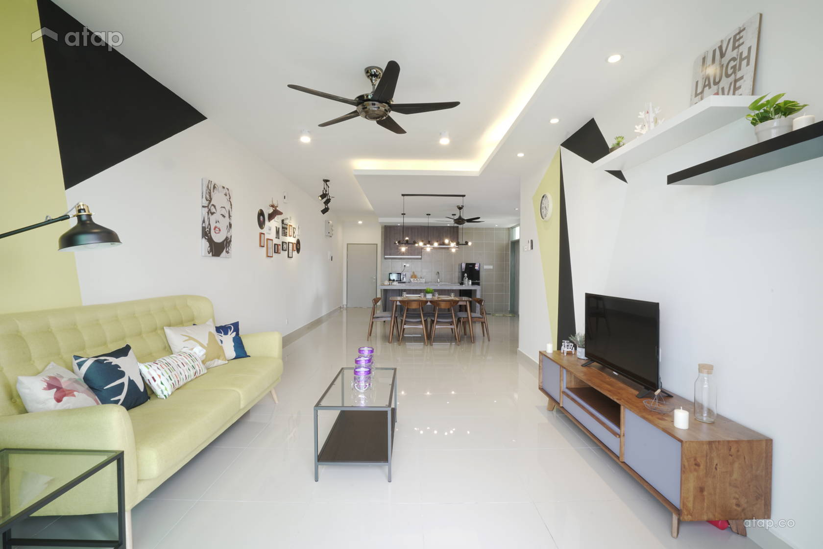 Scandinavian Living Room @ Sri KL palace condo