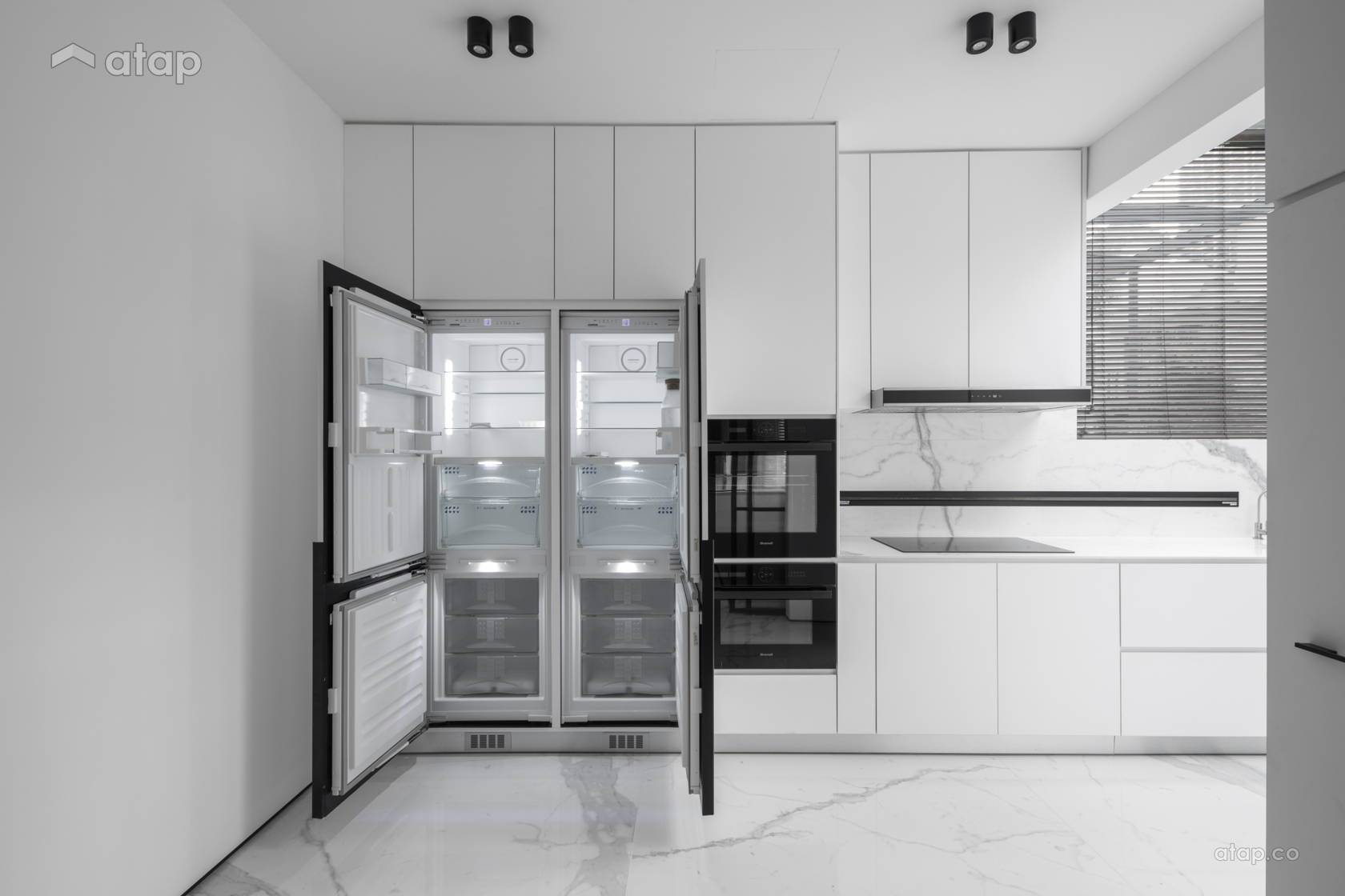 Minimalistic Modern Kitchen @ THE IMPACT OF WHITE - Double Storey, Desa parkcity