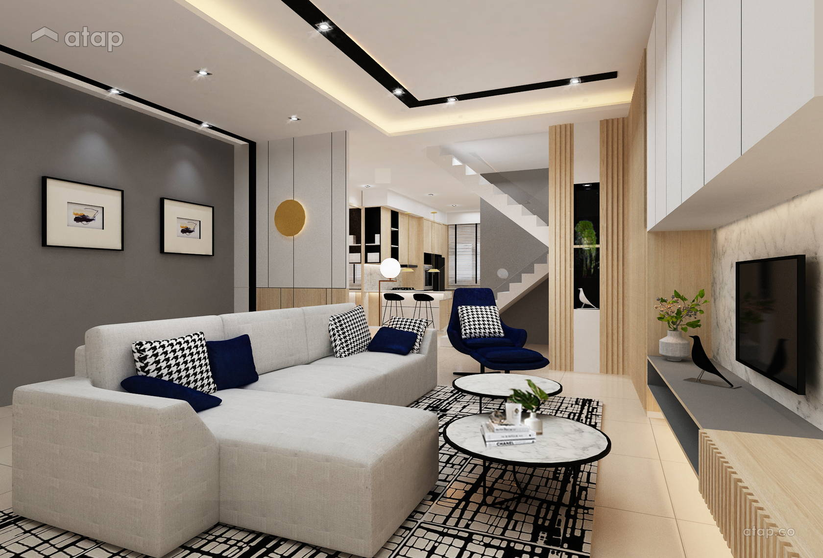 Contemporary Minimalist Double Storey Interior Design Renovation Ideas Photos And Price In Malaysia Atap Co