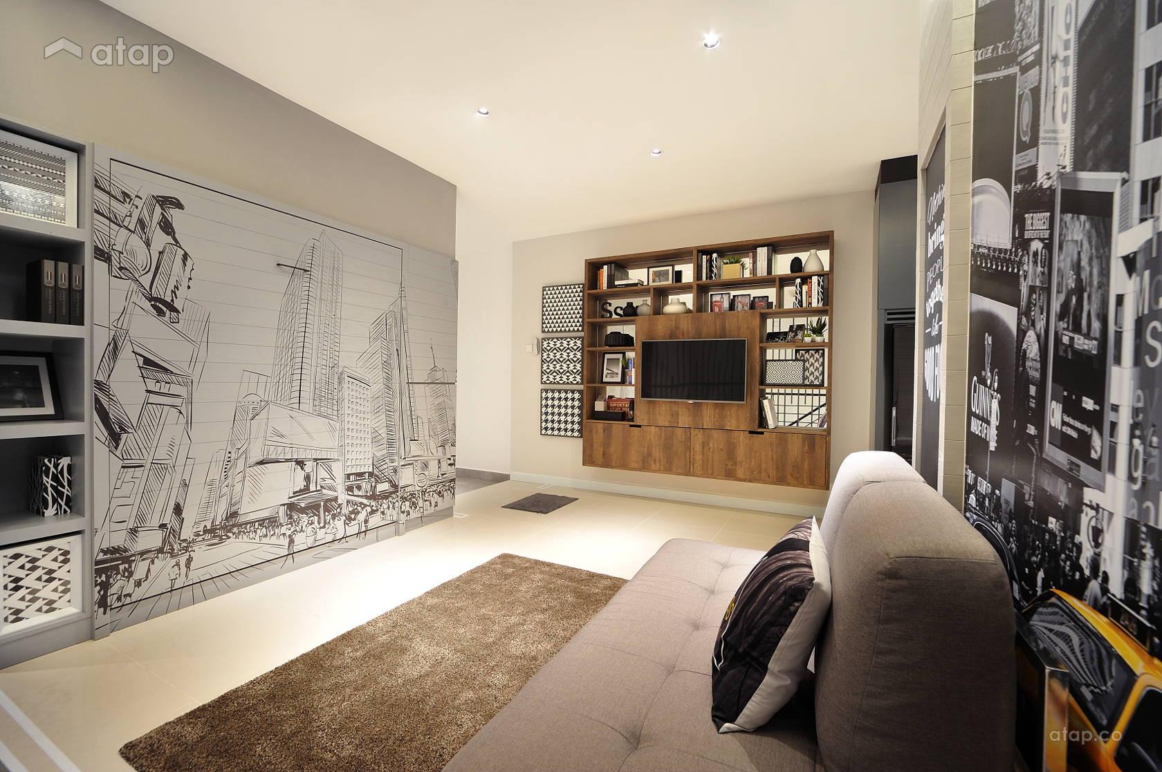 Minimalistic Modern Living Room @ HighPark Studio A1