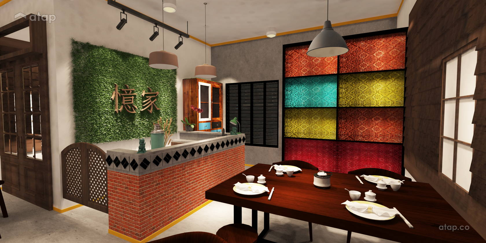 Rustic Vintage F B Retail Shophouse Design Ideas Photos Malaysia Atap Co