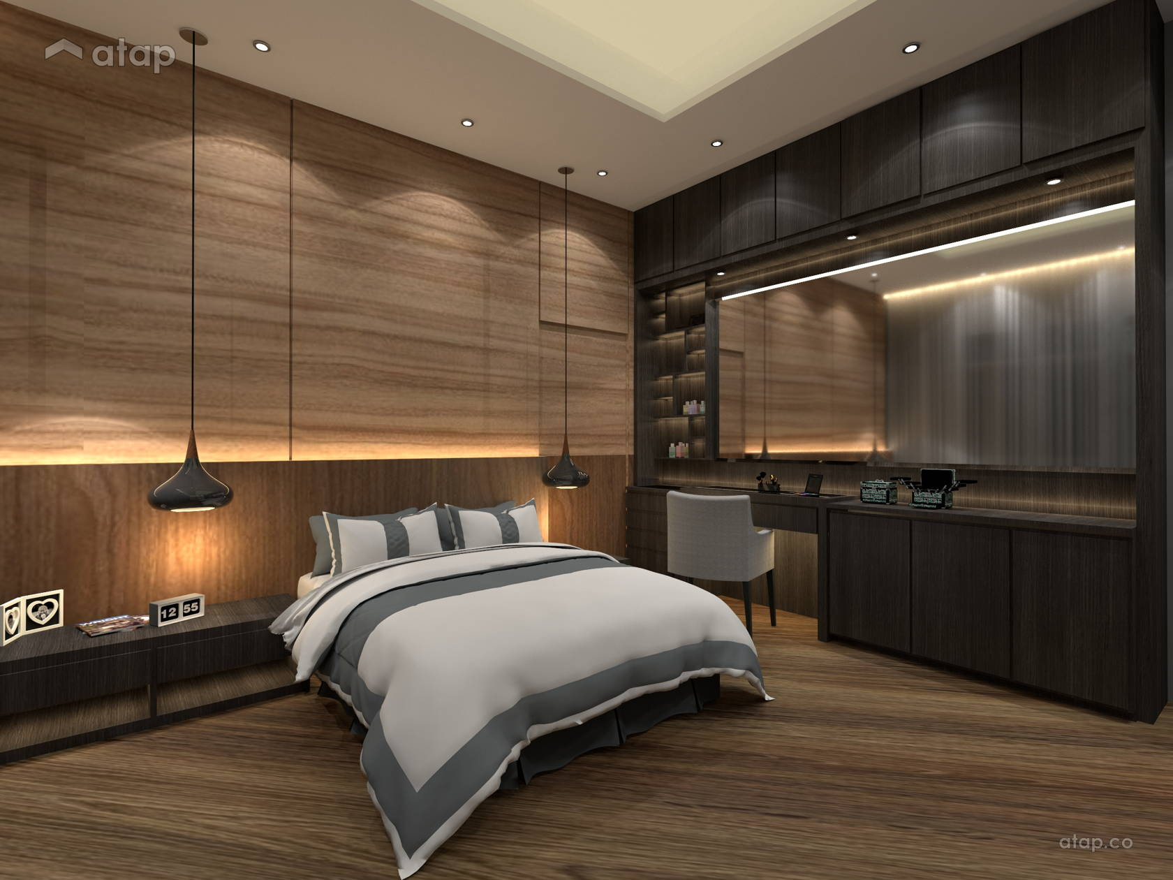 Classic Modern Bedroom apartment design ideas & photos Malaysia