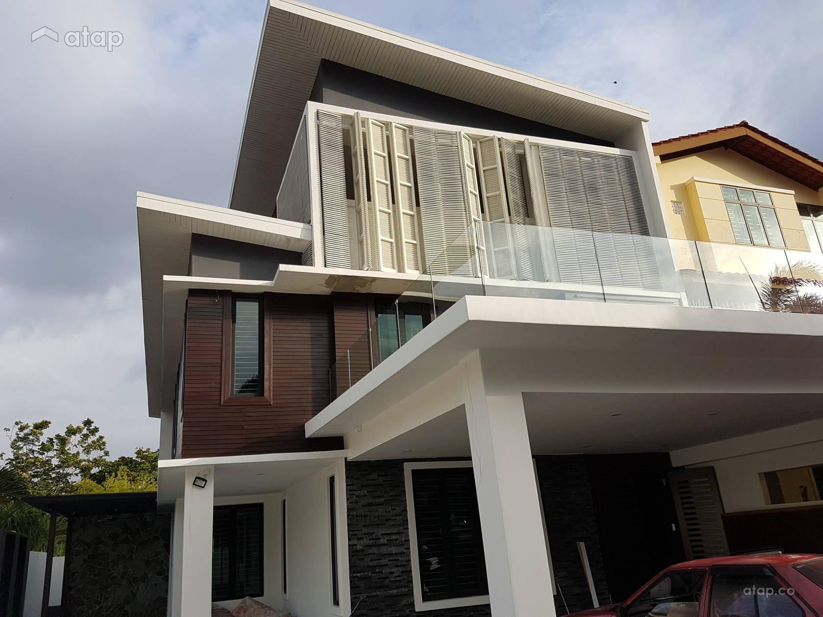 Minimalistic modern exterior taman sutera 3 storey terraced house share this professional