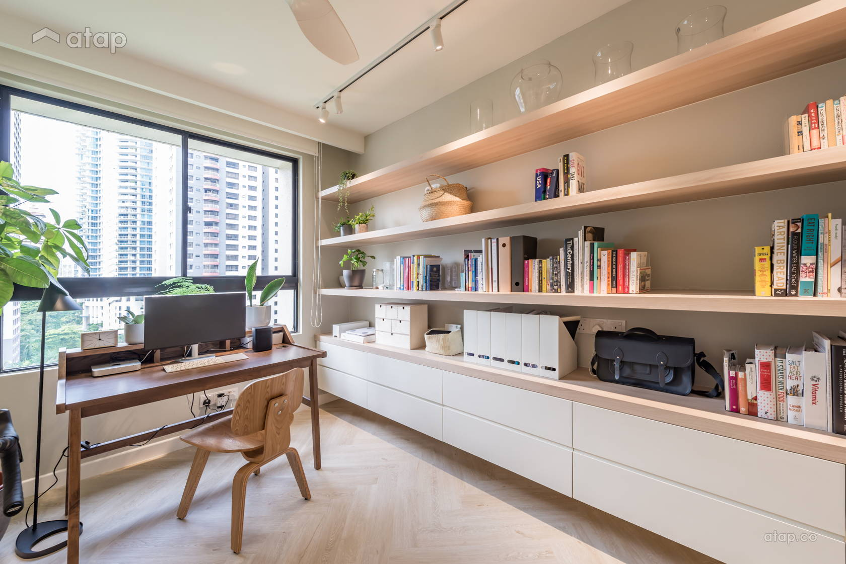 Modern Scandinavian Study Room @ Mont Kiara Pines Condo