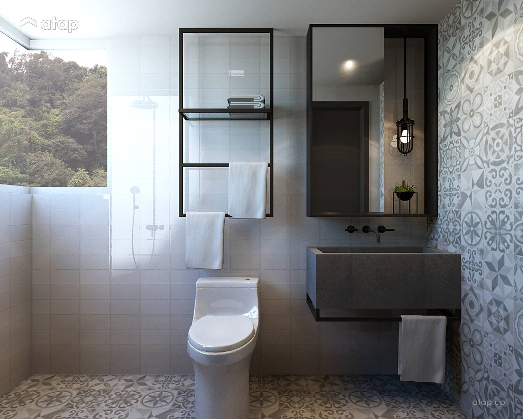 Minimalistic Modern Bathroom @ Armanee Terrace (Scandinavian)