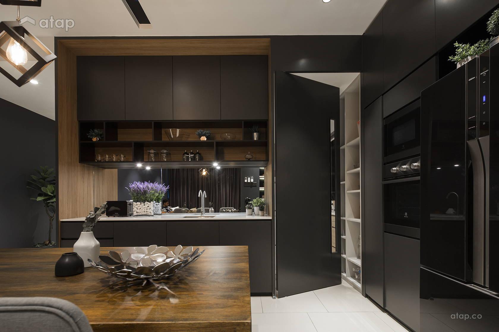 Contemporary Modern Dining Room Kitchen @ The Reach, Titiwangsa