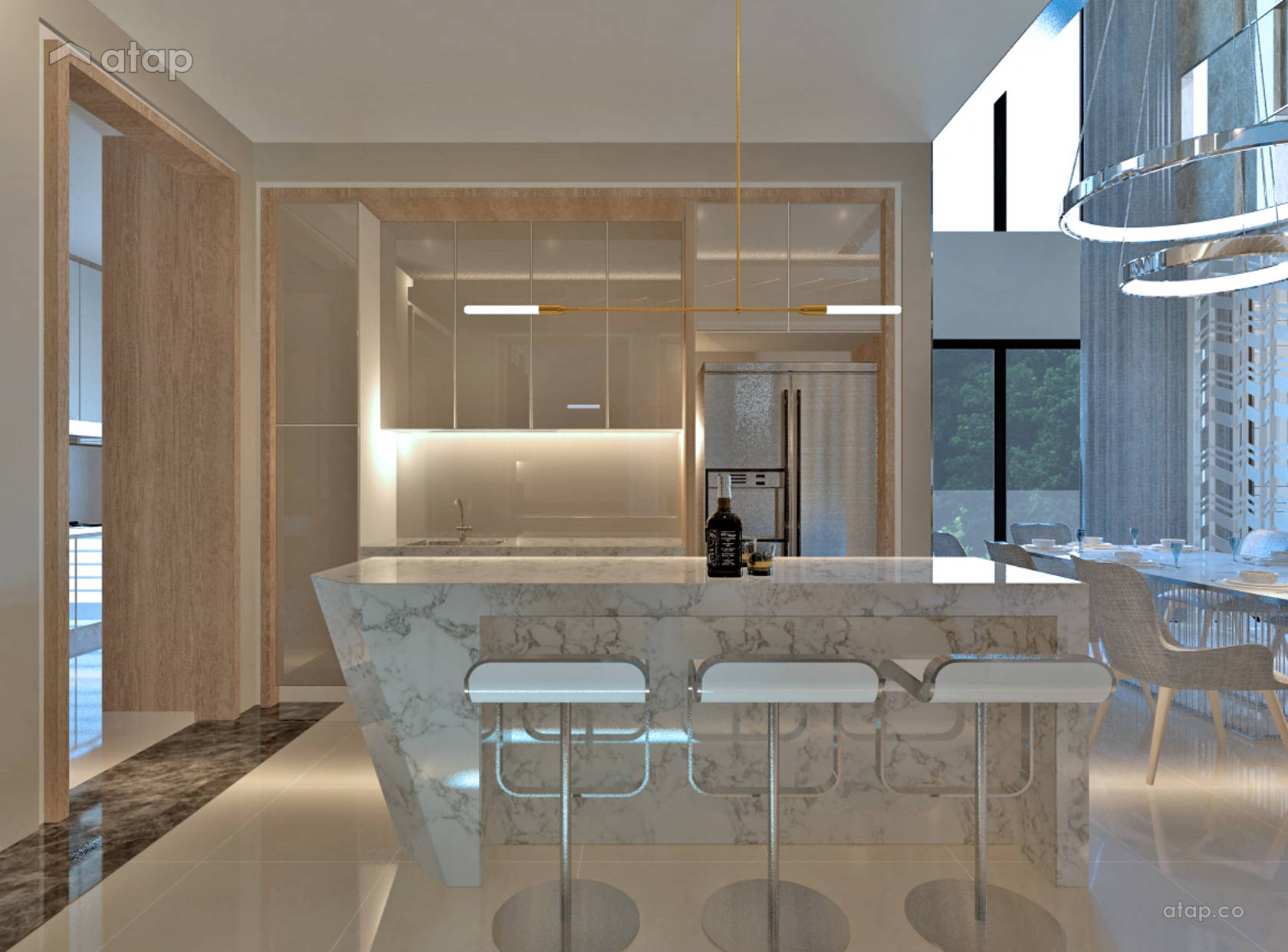Classic Contemporary Kitchen Semi Detached Design Ideas Photos