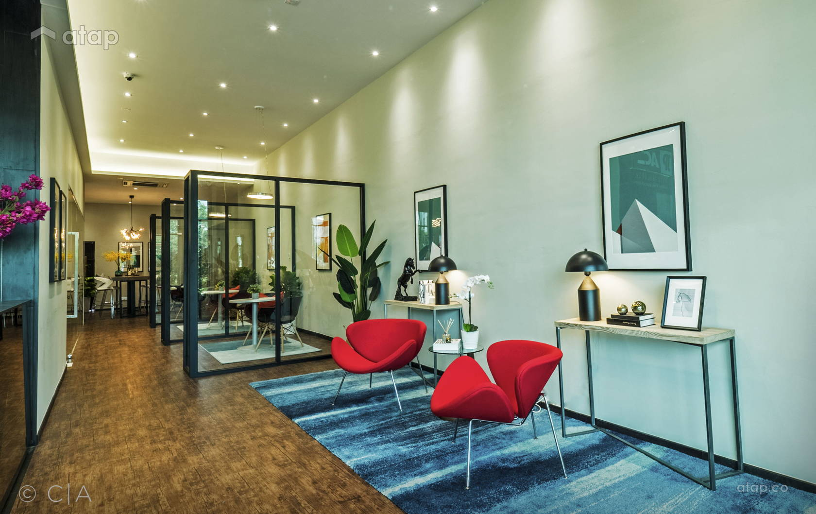 Contemporary Office @ The Bustling Society : Interactive Workplace