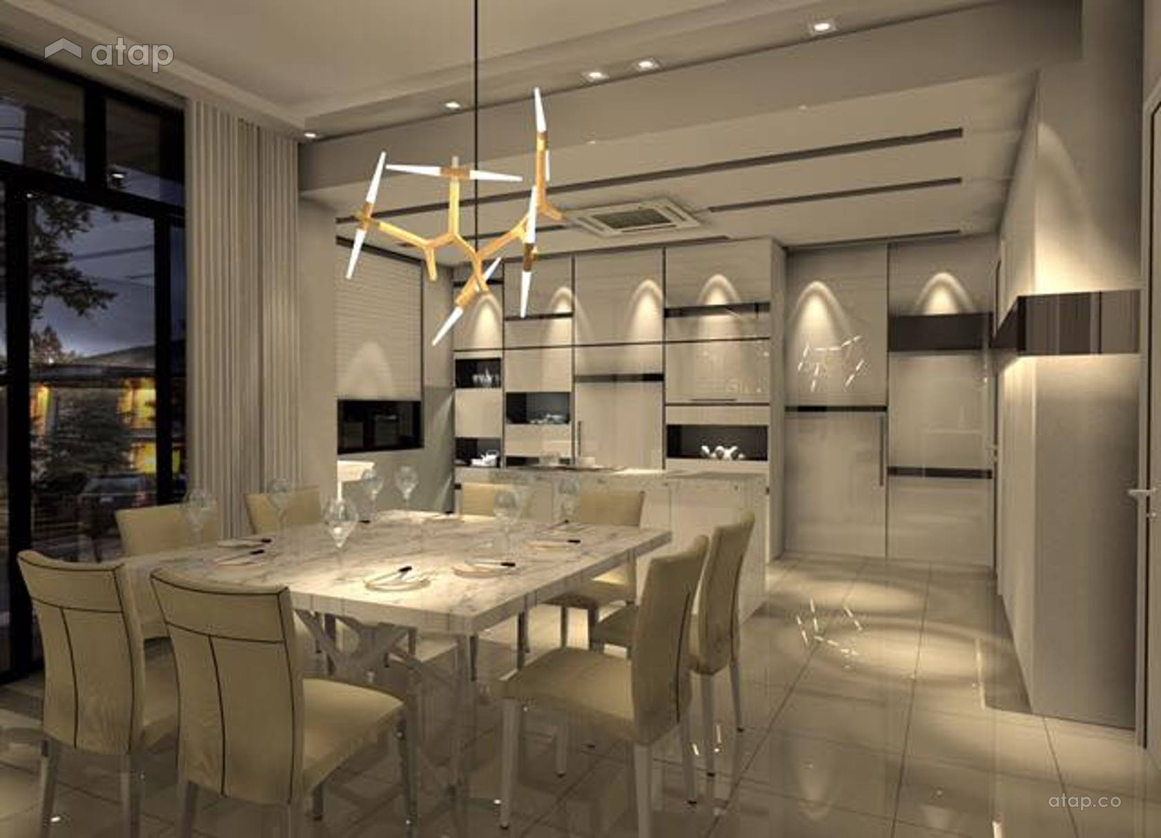 Modern Dining Room Kitchen others design ideas & photos ...