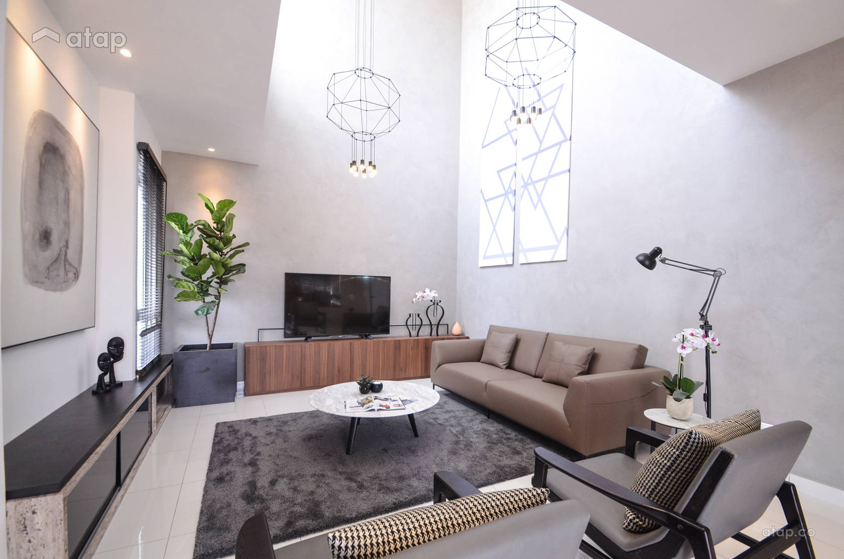 Contemporary Scandinavian Living Room @ Alpina Residensi