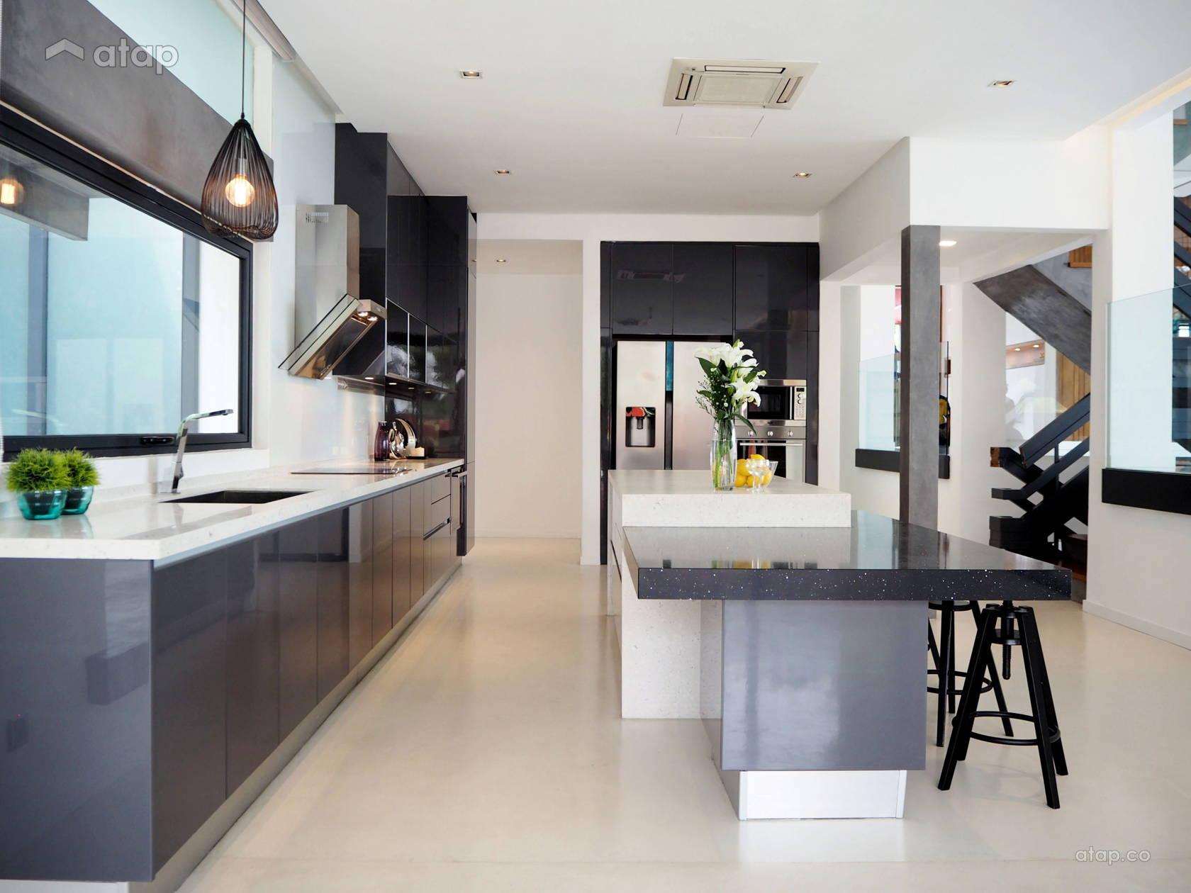 kitchen cabinets interior design ideas malaysia   Minimalistic Modern Kitchen bungalow design ideas & photos ...
