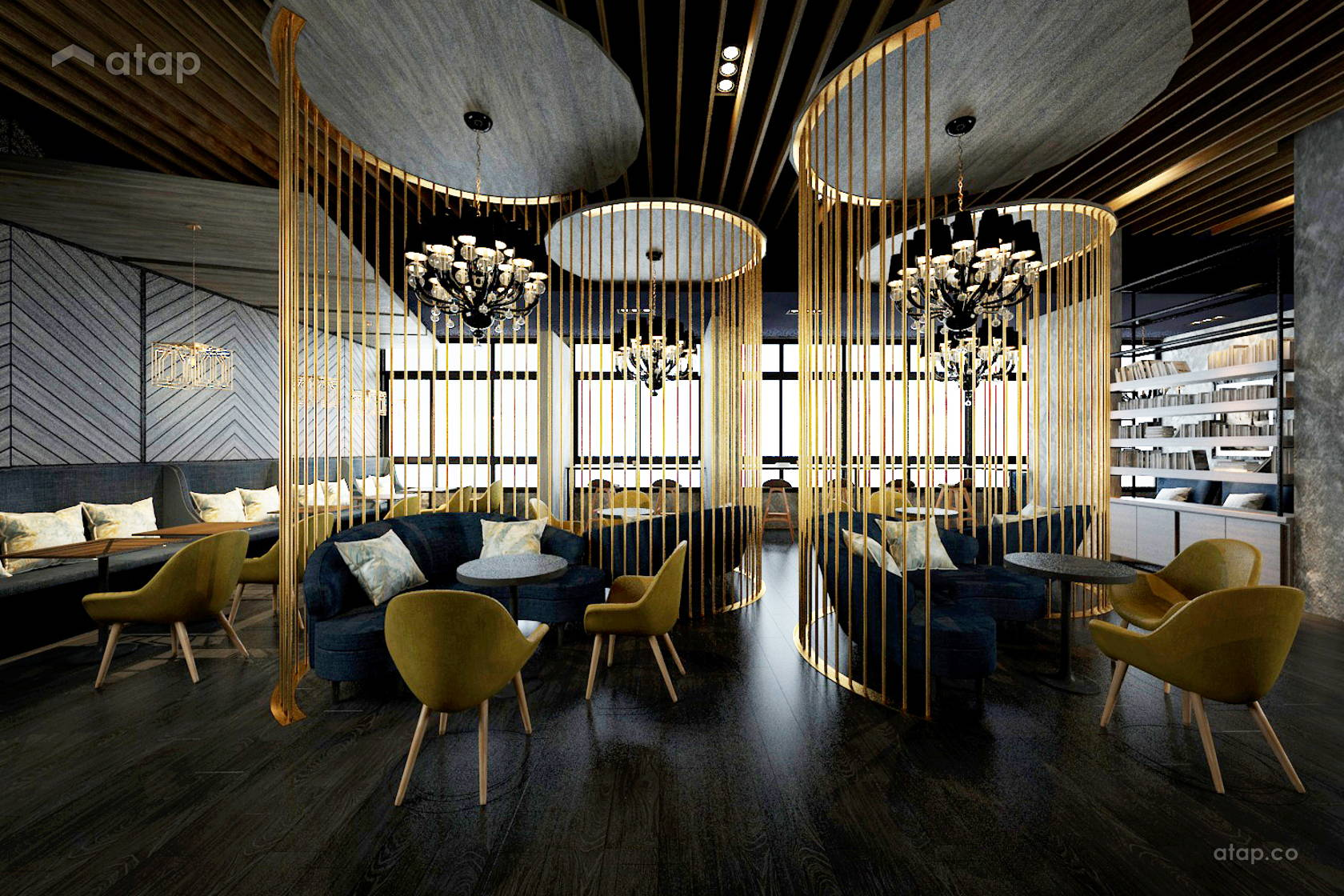 Sky Lounge Cafe architectural & interior design renovation ideas ...