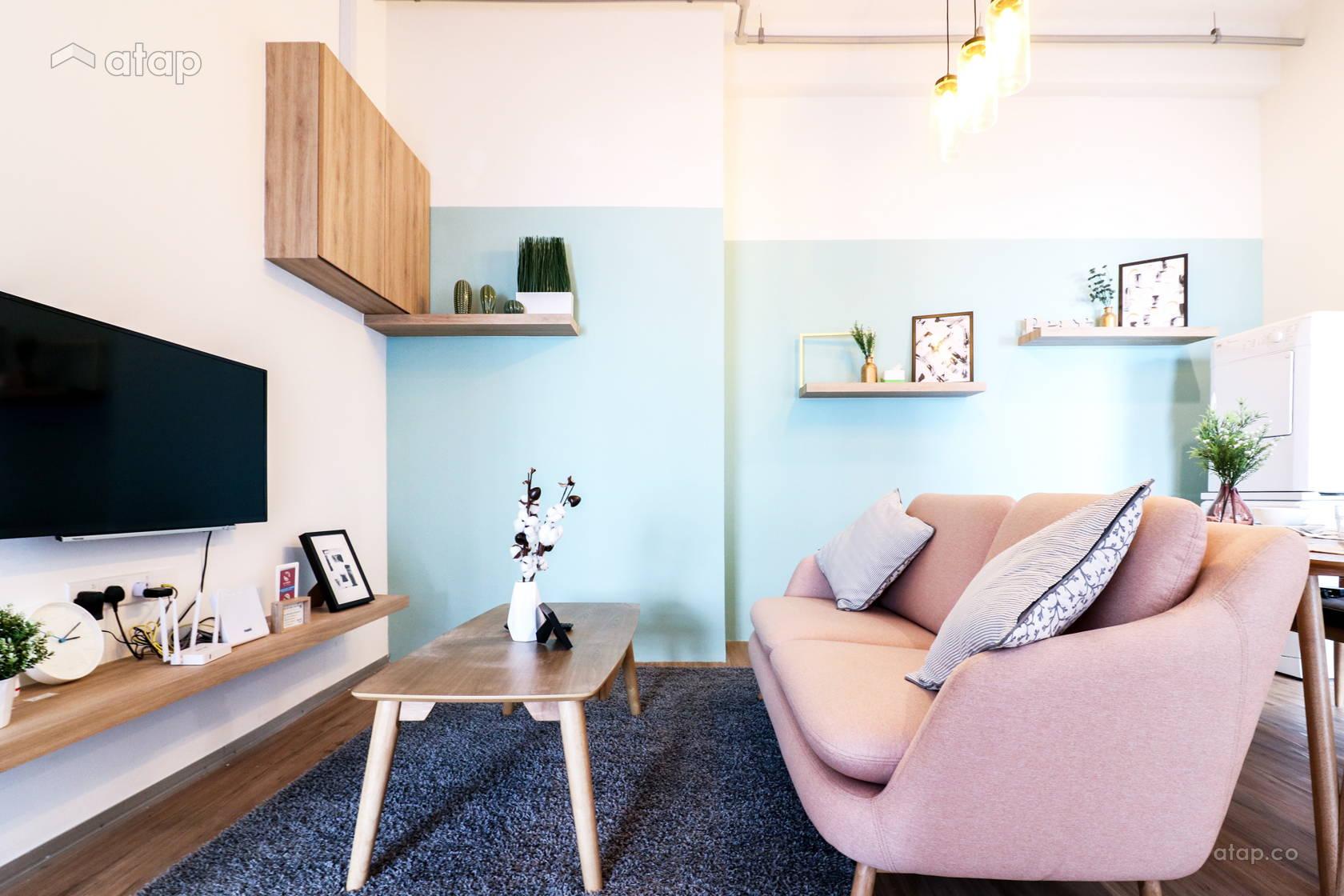 Minimalistic Scandinavian Living Room @ Vida @ Bukit Ceylon