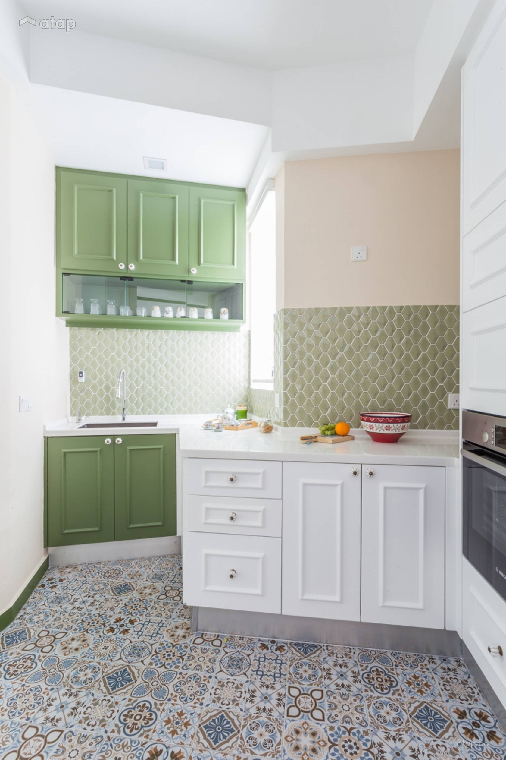 Contemporary Vintage Kitchen @ Modern Retro -Kiaramas Ayuria -Mont Kiara
