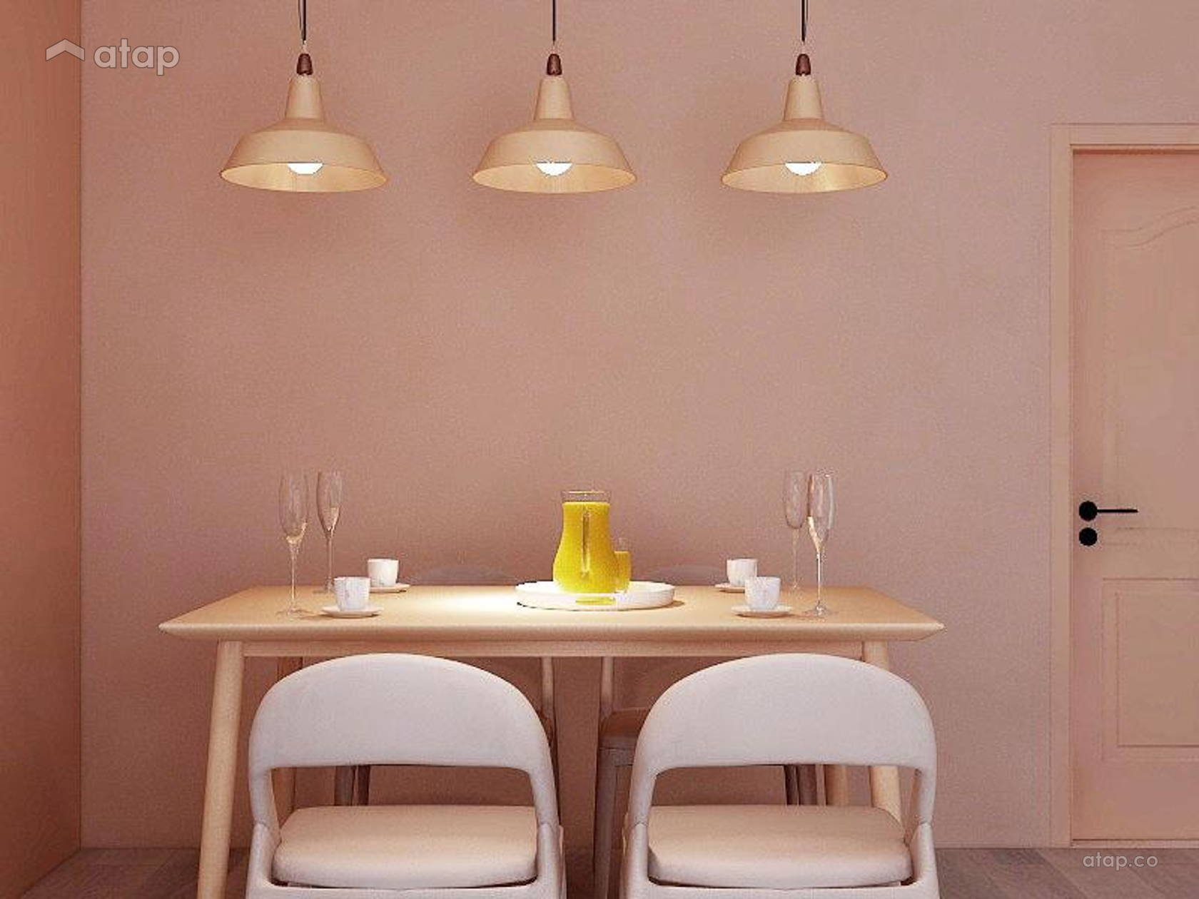 Contemporary Minimalistic Dining Room @ Goflex Signature - Nude Collection Interior