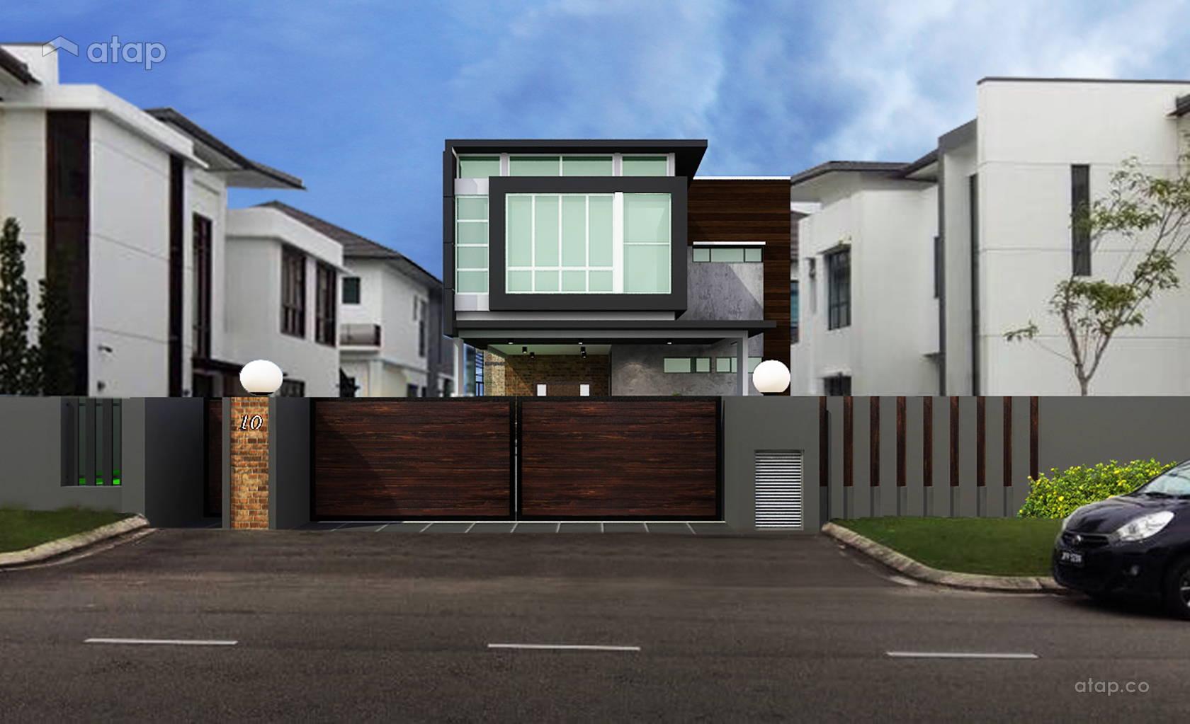 Industrial Modern Exterior Garden @ LOFT RESORT HOUSE
