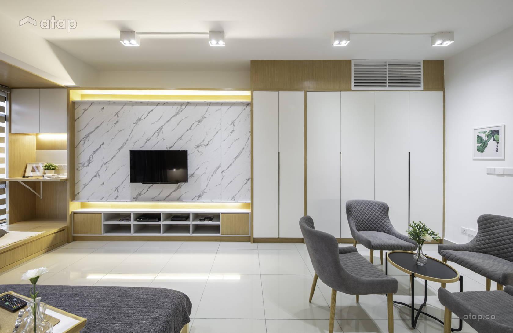 Asian Contemporary Bedroom apartment design ideas & photos Malaysia ...
