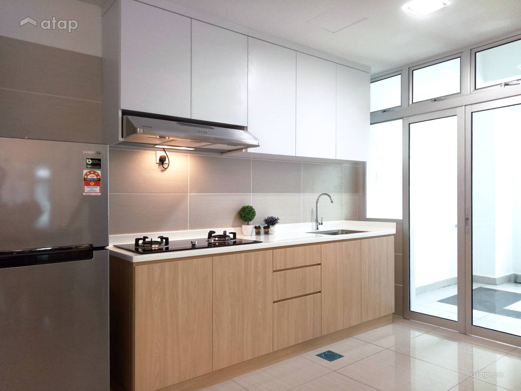 Minimalistic Kitchen @ Midori Green Apartment Minimalist Style