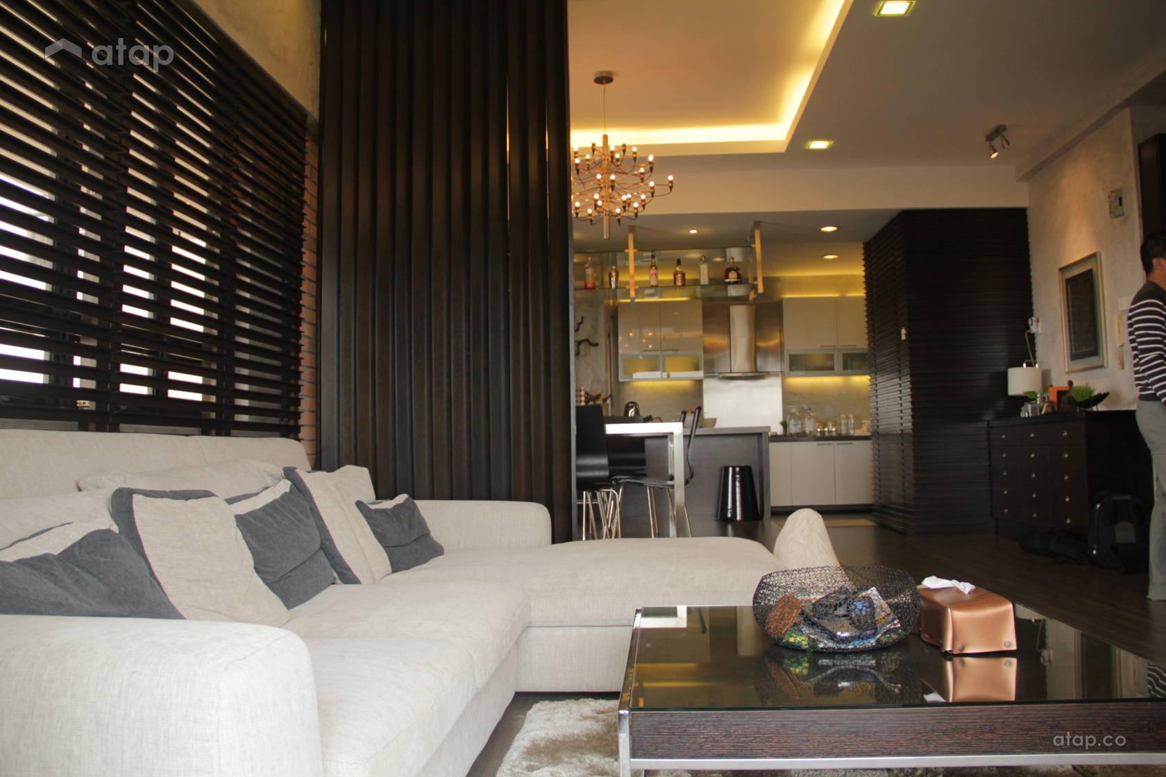 Rustic living room condominium design ideas photos malaysia atap co